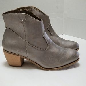 Lane Bryant Wide Faux Leather Cowboy Booties